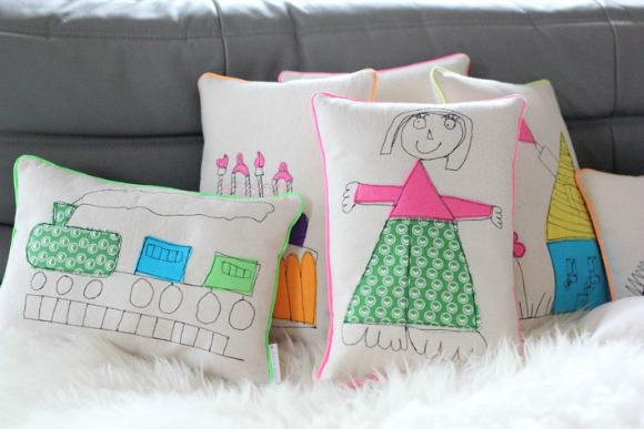 Embroidered Children's Cushions