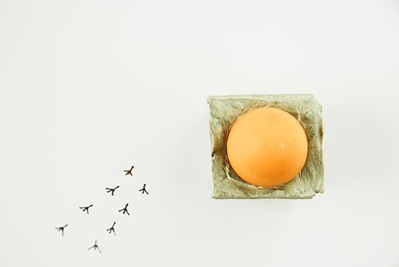 DIY Concrete Egg Bunker