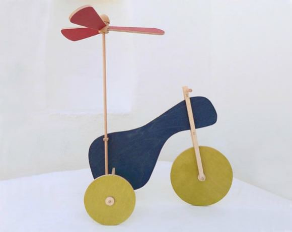Flying Tricycle, a  wooden toy by The Wandering Workshop on Etsy
