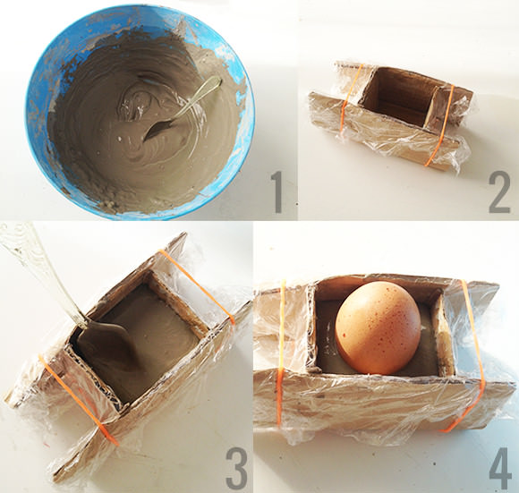 DIY Concrete Egg Bunker