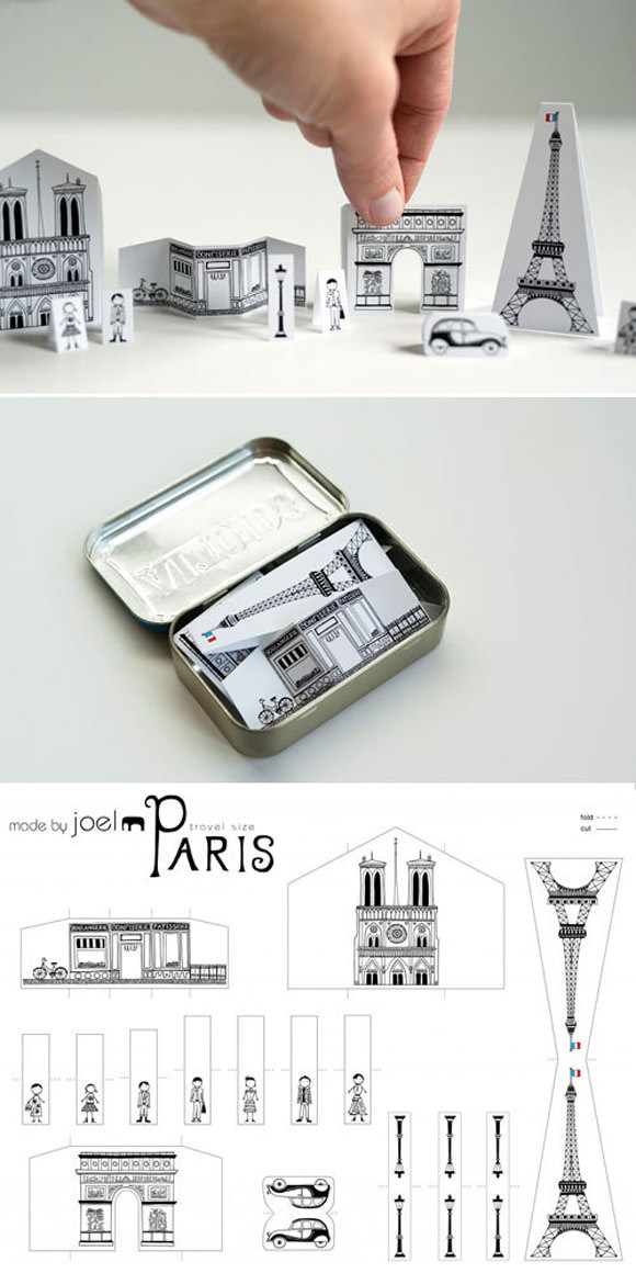 DIY Paper City Paris via Made by Joel - carry Paris in your pocket!