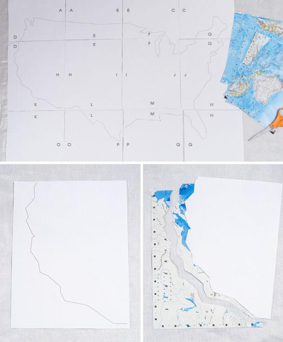 DIY Chalkboard Map