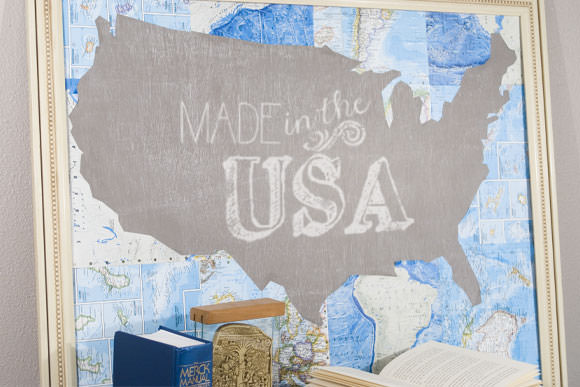 DIY Chalkboard Map