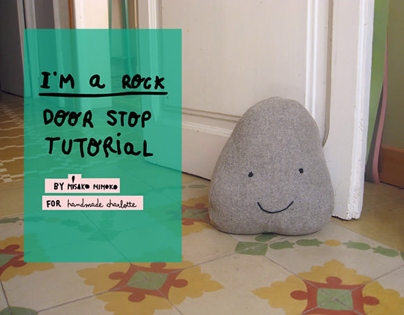 How To Make A Door Stopper.Diy Friendly Rock Doorstop Handmade Charlotte