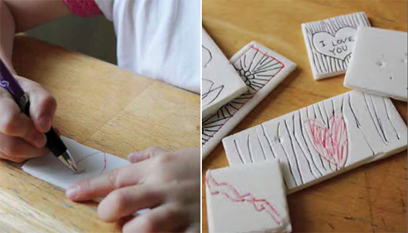 DIY Styrofoam Stickers via The Artful Parent