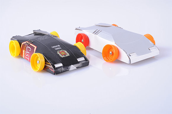 Miniature Plastic Race Cars