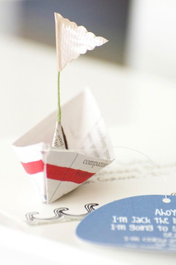 DIY Foldable Boat Invitation