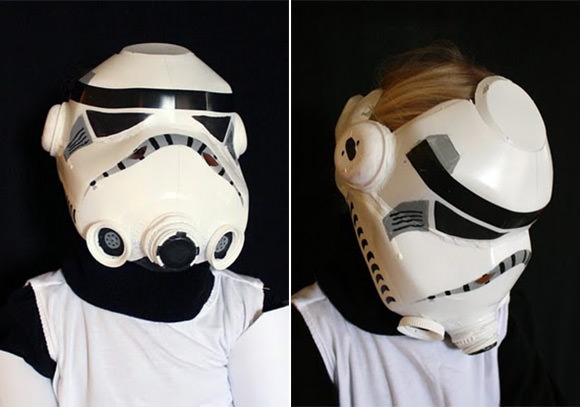 DIY Recycled Milk Jug Star Wars Helmet for Kids