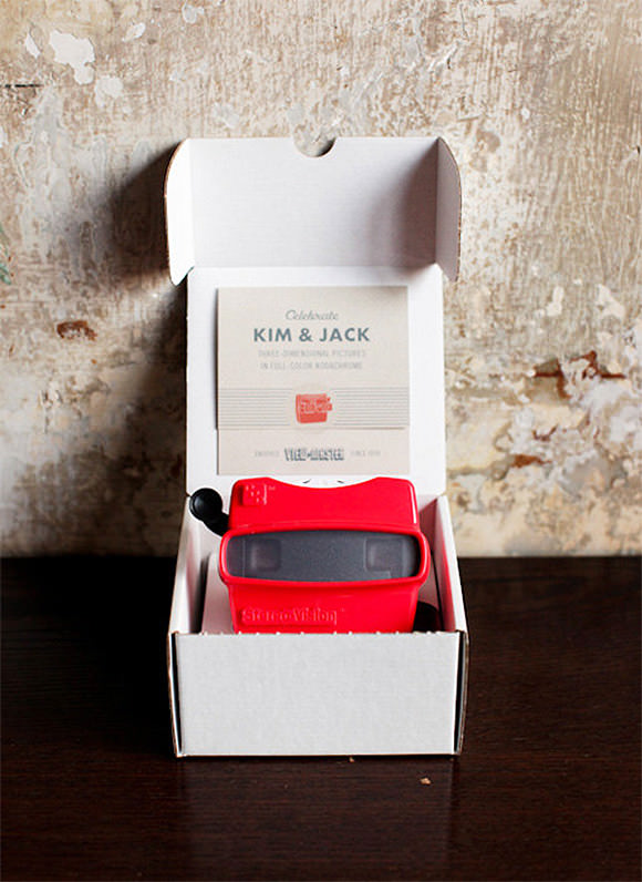 Handmade View-Master Invitations available on Etsy