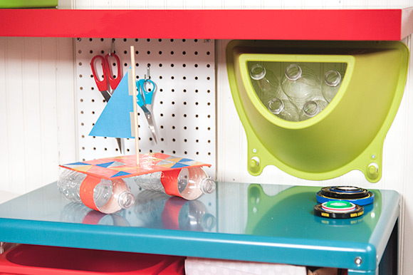 Diy recycling center for kids handmade charlotte for Diy crafts using recycled materials