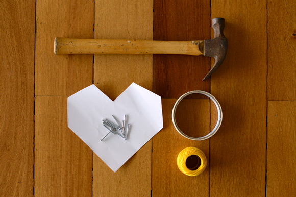 DIY Threaded Heart Wall Art