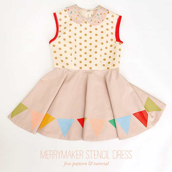 DIY Merrymaker Stencil Dress ⋆ Handmade Charlotte