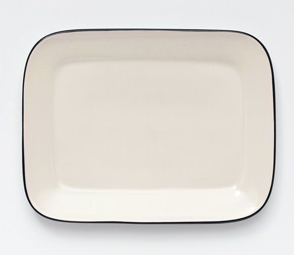 Blackline Stoneware Serving Tray