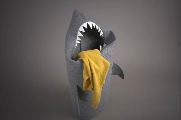Kids Room Storage - Shark Laundry Basket