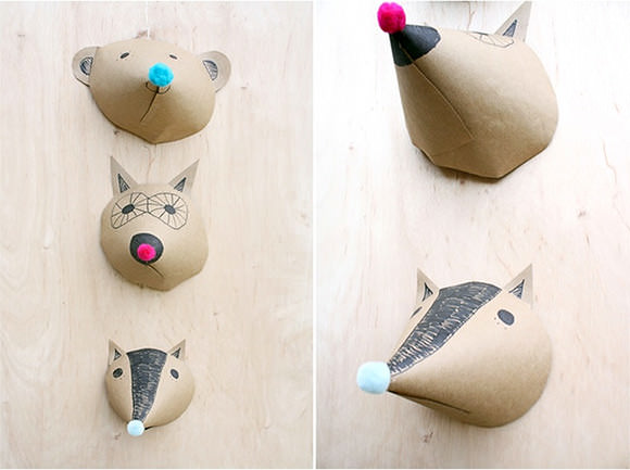 DIY Paper Animal Heads