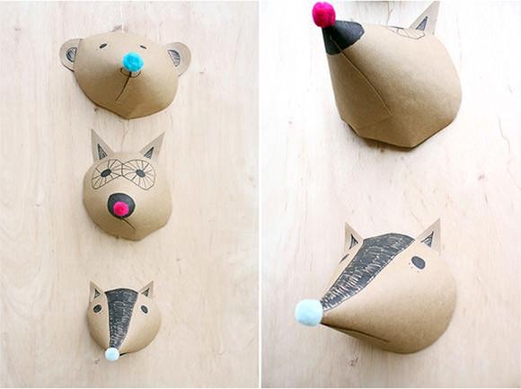 DIY Paper Animal Heads