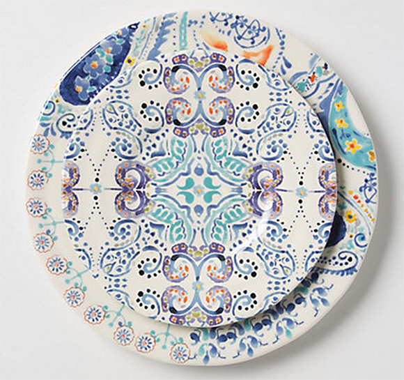 Swirled Symmetry Dinner Plate at Anthropologie