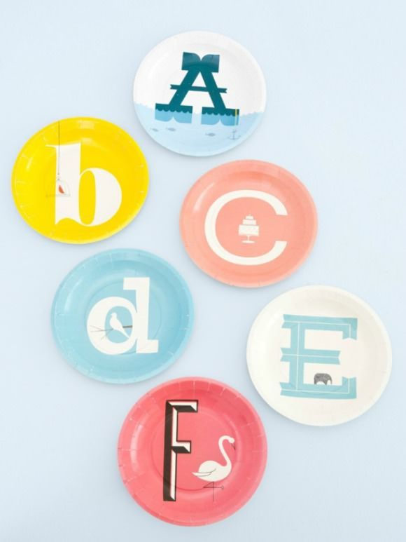 Paper Alphabet Plates for Kids from PaperMash