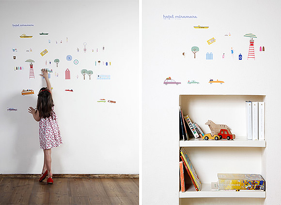 Hotel Miramare Collection, eco-friendly fabric wall decals by Peridea