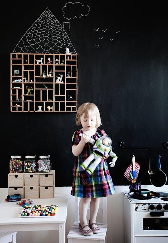 chalkboard wall in kids rooms
