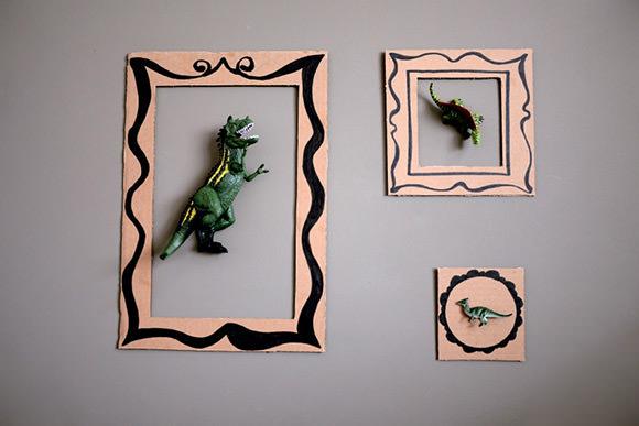 Diy dinosaur frames for kids for Handmade decorative items for bedroom