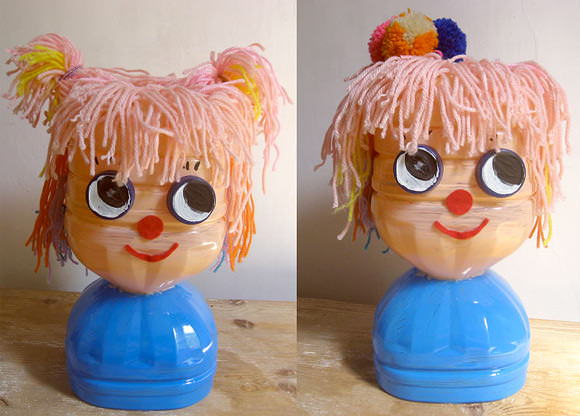 DIY Recycled Plastic Bottle Hairstyling Doll | Handmade ...