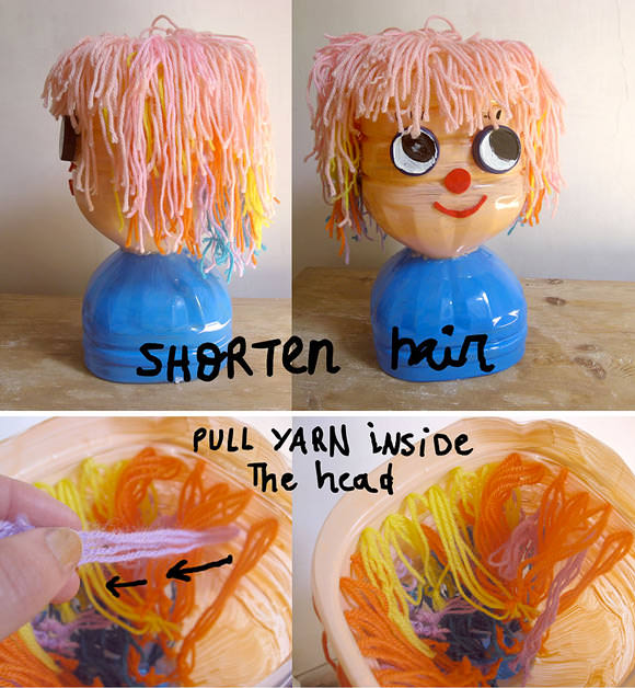 DIY Recycled Bottle Hair Styling Doll Tutorial (with growing hair!)