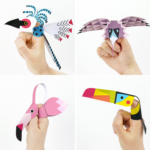 DIY Printable Bird Finger Puppets (does it get any better than Mr Printables?)