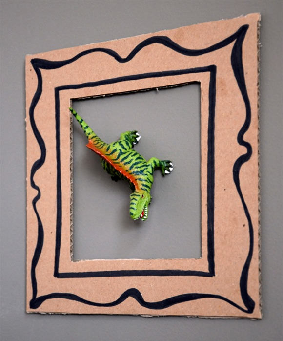diy dino frames for kids - Diy Cardboard Picture Frame