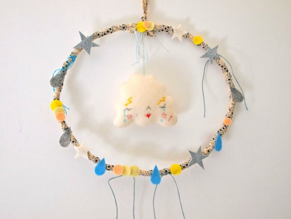 Felt Cloud Wreath for Kids