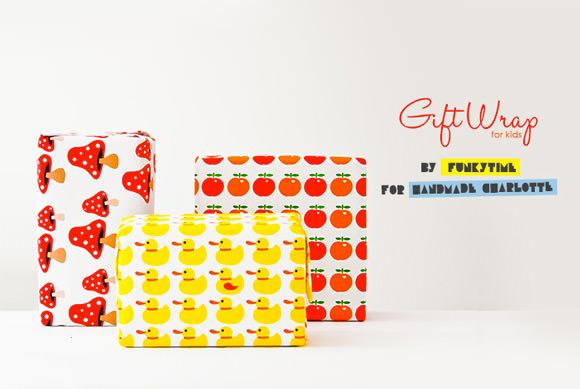 DIY Printable Gift Wrap For Kids ⋆ Handmade Charlotte