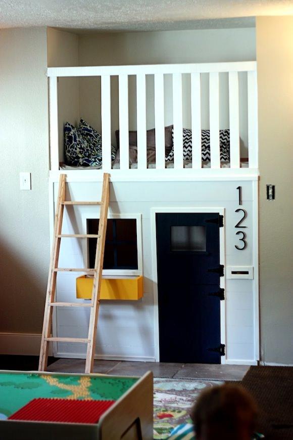 Repurposed Closet in a Kid's Room