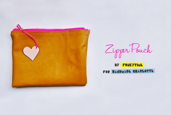 DIY Summer Love Zipper Pouch