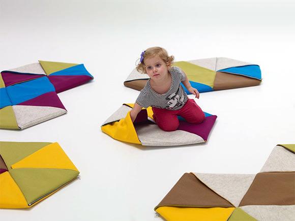 Origami-inspired Zip Rugs by Mut Design Studio