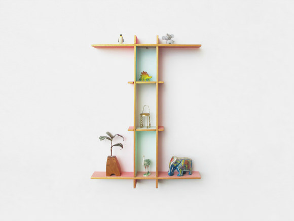 Alphabet Frames - great shelves for a kid's room (via bloesem kids)