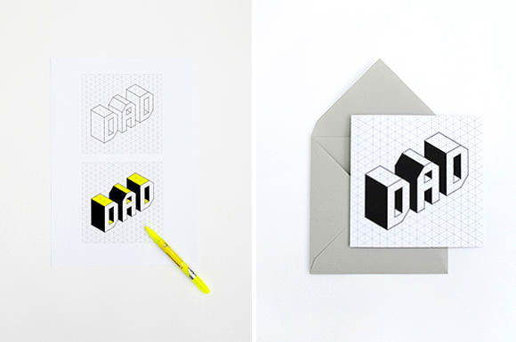 DIY Isometric Father's Day Card by Mini-Eco