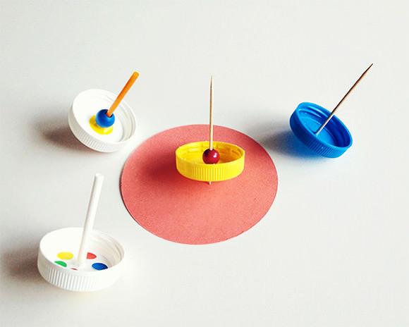 DIY Lollipop Spinning Tops