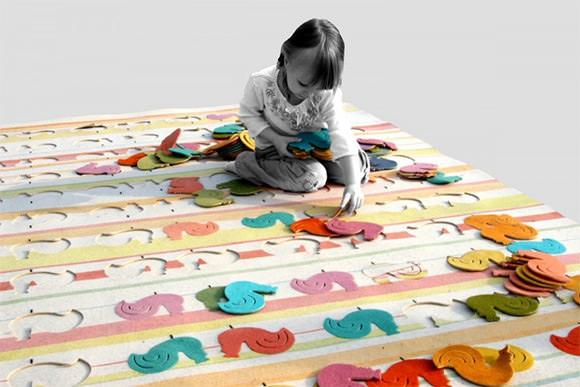 Rooster Carpet by Agnieszka Czop & Joanna Rusin
