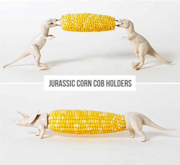 Dinosaur Corn Cob Holders