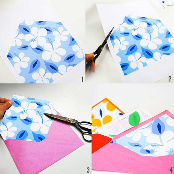DIY Printable Summertime Envelope Liners