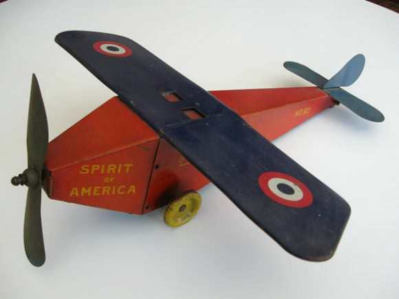 Etsy Finds:  Vintage Toy Airplane of Admiral Richard Byrd's Spirit of America