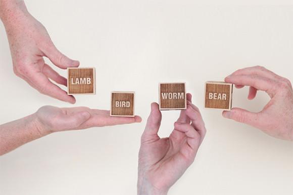 "Wooden ""Advice Dice"" by Drache & Bar"