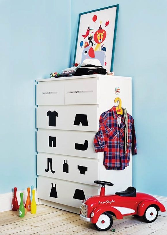 dresser for kids room cool ikea hacks for kids rooms malm dresser with cut out clothing shapes best diy rooms handmade charlotte