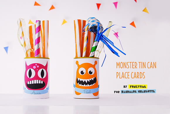 Monster Tin Can Place Cards