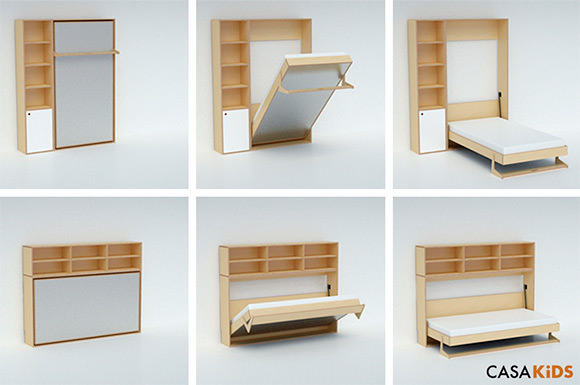 ... Murphy Bed for Kids by Casa Kids- folds into a cabinet only 12  deep : bed in a cabinet - Cheerinfomania.Com