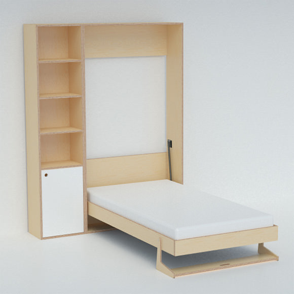 "Tuck Bed by Casa Kids- folds into a cabinet only 12"" deep!"