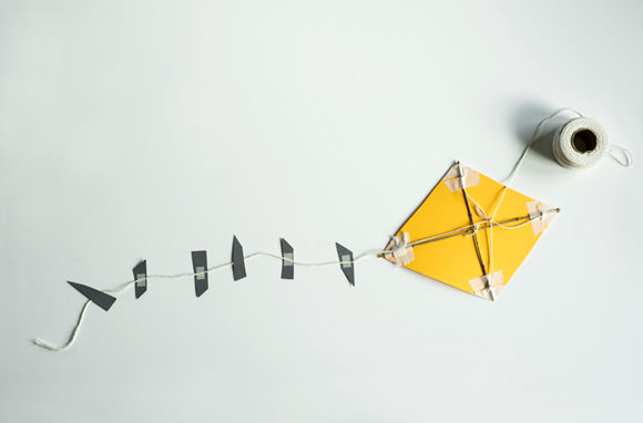DIY Paper Kite via Made By Joel