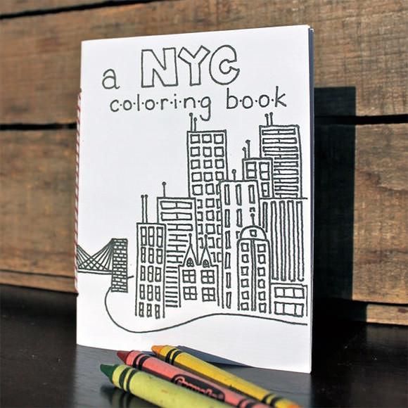 NYC Coloring Book via Etsy