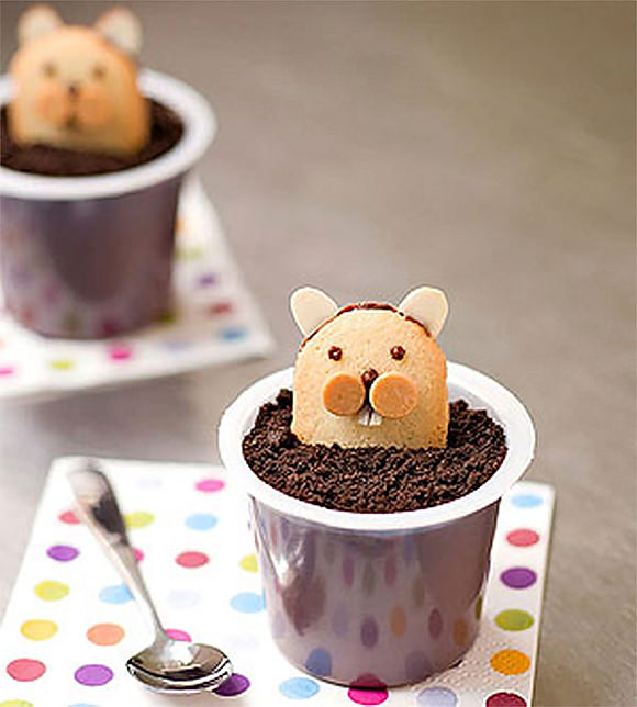 Woodland Pudding Cups for Kids via FamilyFun Magazine