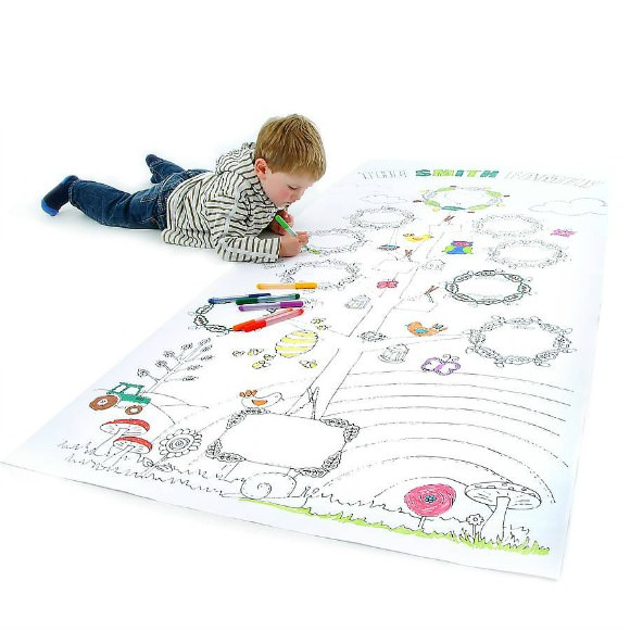 Giant Color-In Family Tree Poster for Kids